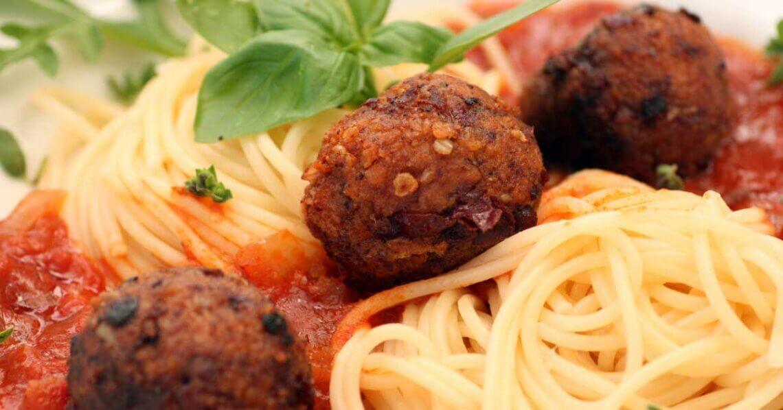 Rezept Bean Balls vegane Spaghetti