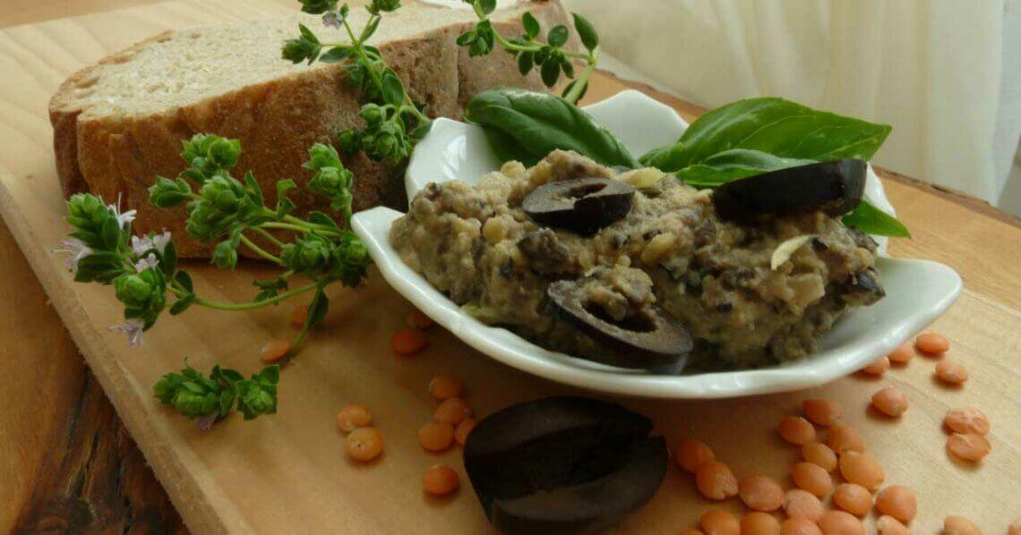 Linsen-Oliven-Aufstrich