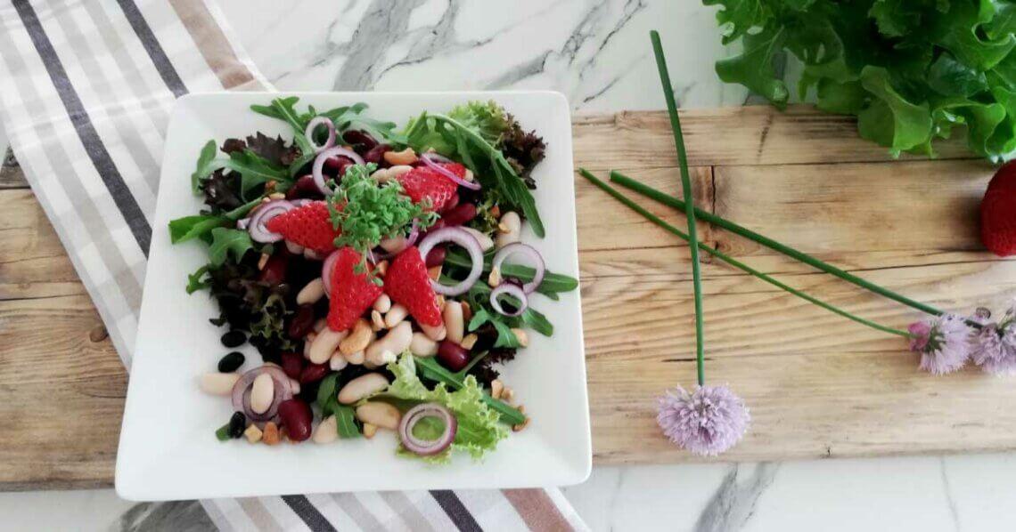 Veganer Bohnensalat