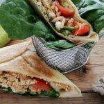 Gefüllte Tortilla – Herzhafter Genuss mit Tofu und Gemüse
