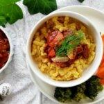 Veganes Pilzgulasch mit Spätzle