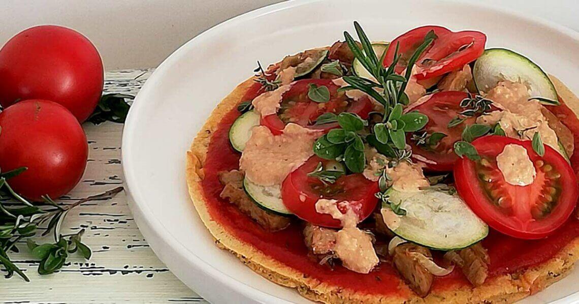 Vegane Seitan-Pizza