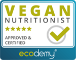 I am a certified vegan nutritionist by ecodemy!