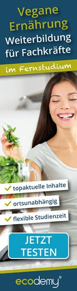 Vegane Ernährung Fachfortbildung im Fernstudium