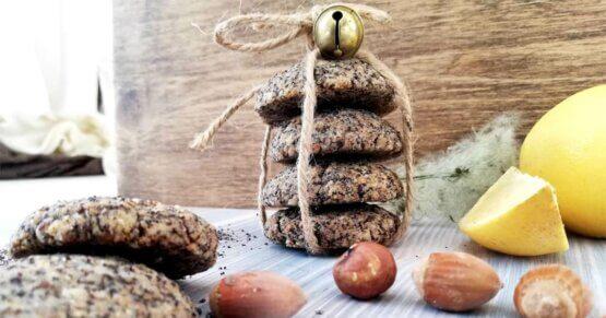 Mohn-Haselnuss-Kekse