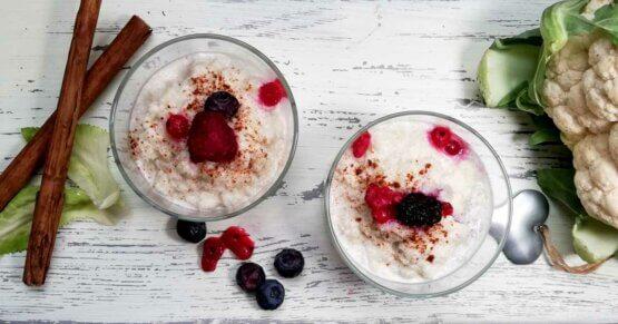 Veganer Blumenkohlmilchreis